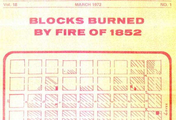 Vol.18 No.1 Blocks Burned by Fire of 1852 (Print Copy)