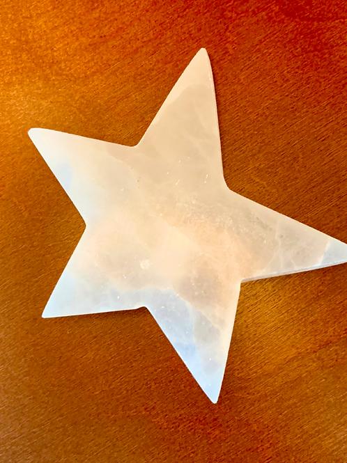 Selenite Star Charging Plate