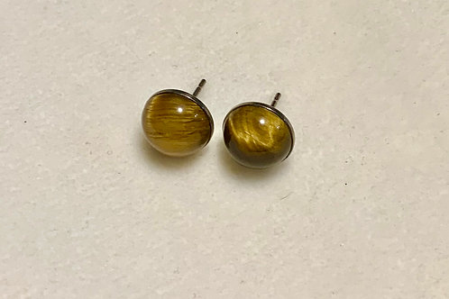 Tiger's Eye 10mm Earrings