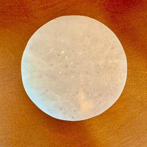 Selenite Circular Charging Plate