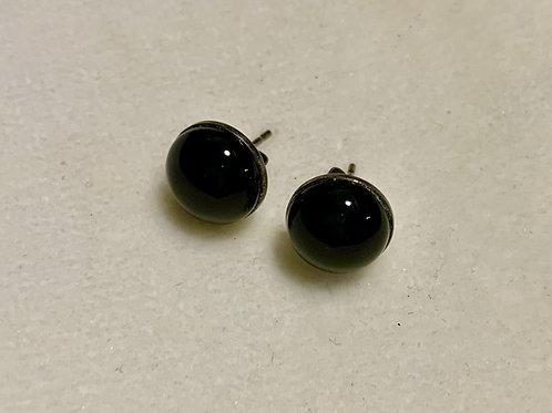 Obsidian 10mm Earrings