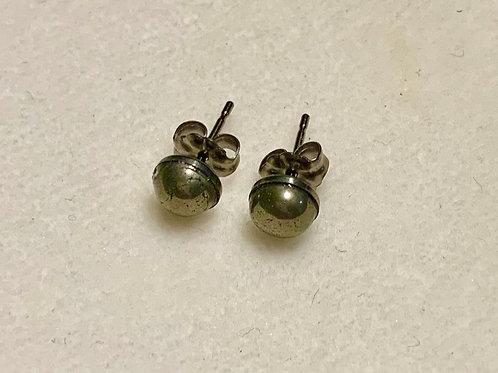 Pyrite 6mm Earrings