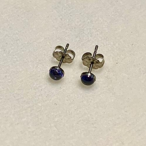Iolite 4mm Earrings