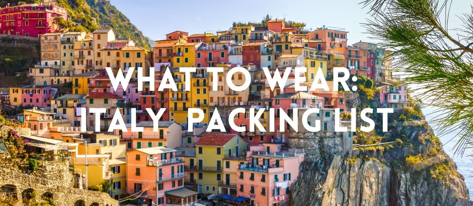 What To Wear: Italy Packing List
