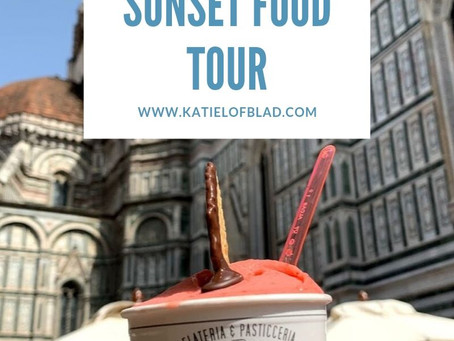 Sunset Food Tour in Florence, Italy!
