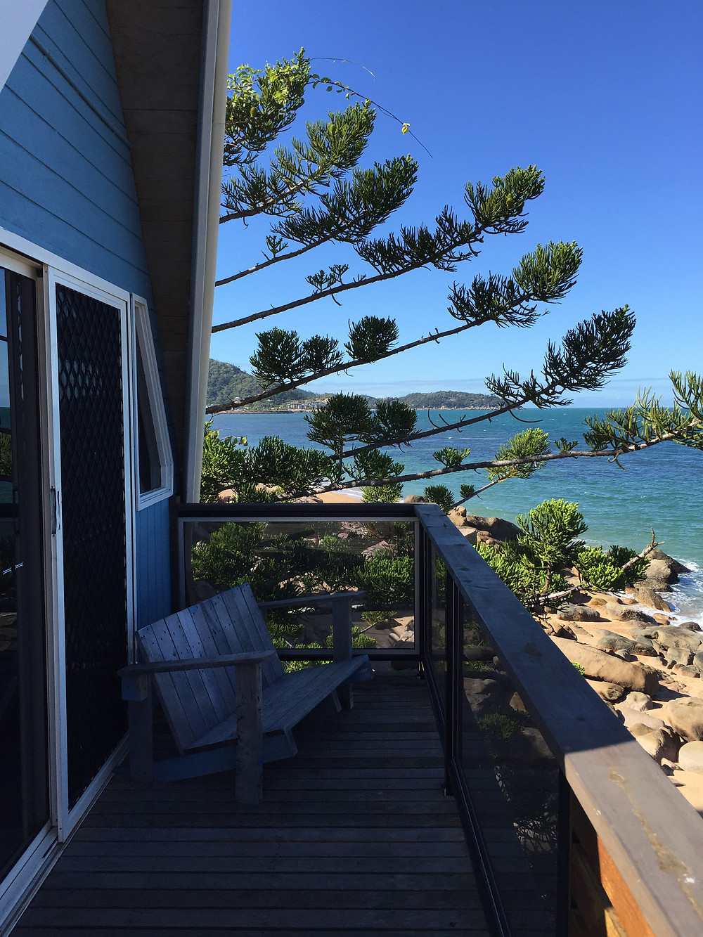 Porch view at Base hostel magnetic island