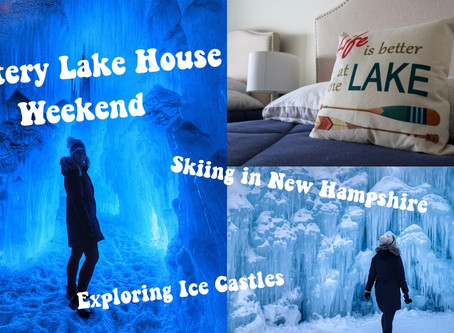 Exploring Ice Castles & Skiing Waterville Valley in New Hampshire