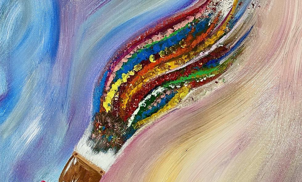 12x24 Mixed Media on Studio Canvas