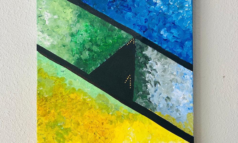 16x20 Textured Acrylic on Canvas