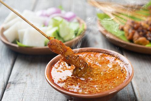 Satay sauce (peanut dipping sauce)