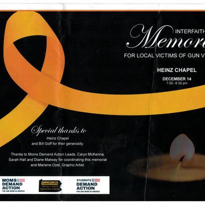 Interfaith Memorial for Local Victims of Gun Violence
