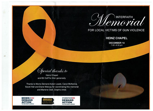 Interfaith Memorial for Local Victims of