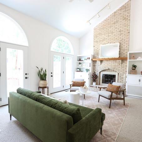 Heather's breezy living room