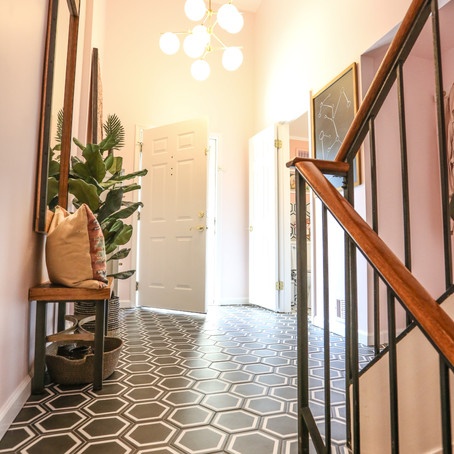 Bright and Colorful Entryway