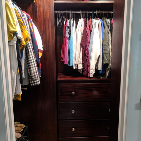 Three tips from a one-session closet organizing project