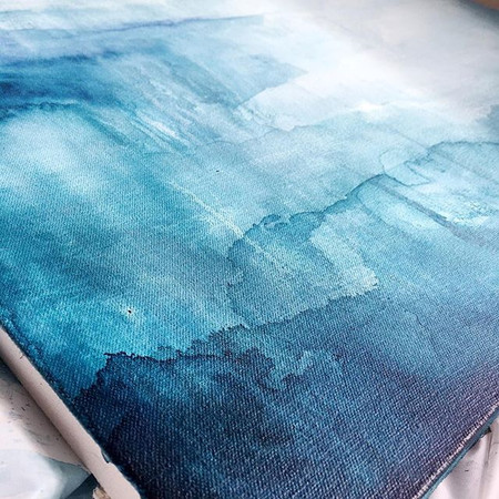 Seascapes- Acrylic & Ink