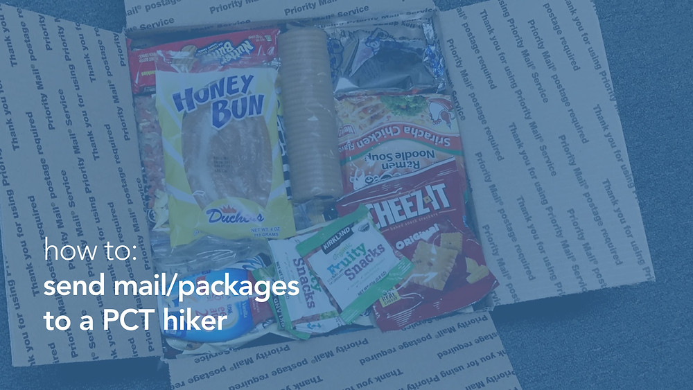 how to: send mail/packages to a PCT hiker