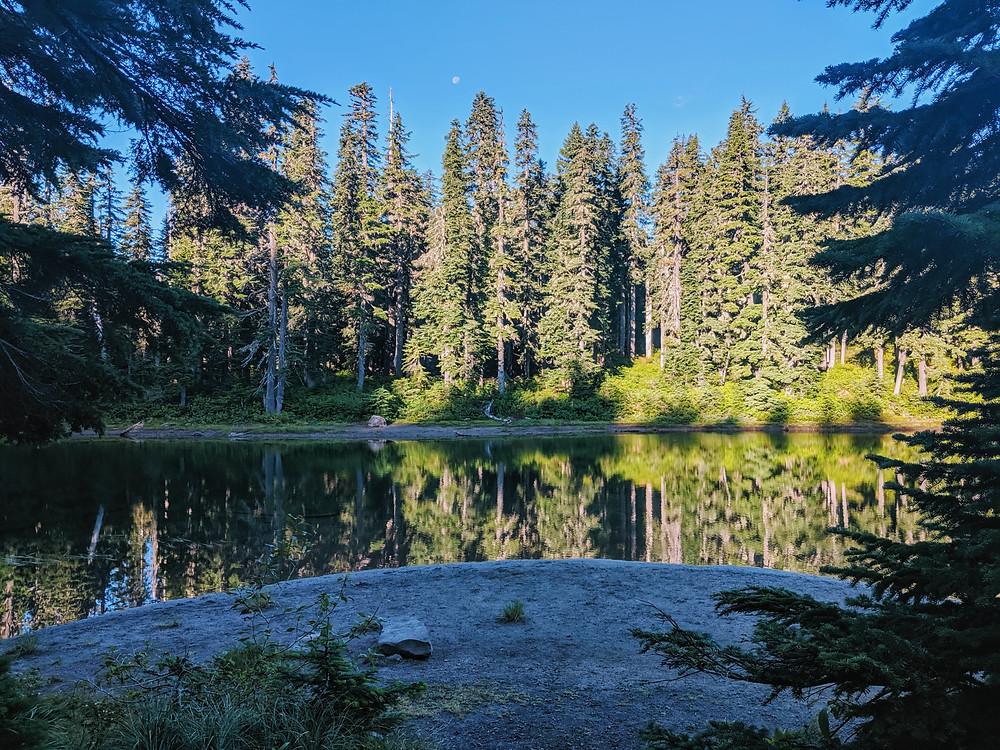 Bear Lake, morning reflection