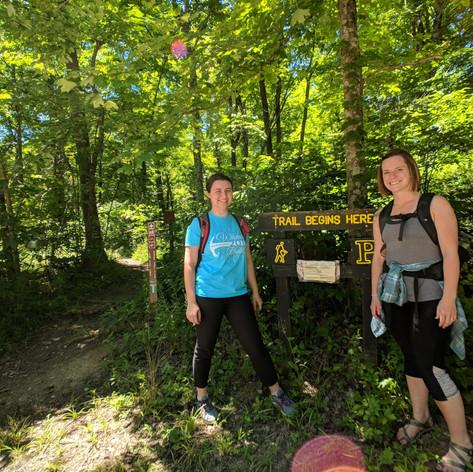 Checking out the Low Gap Trail