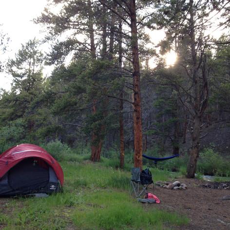 camped at 10,000 feet