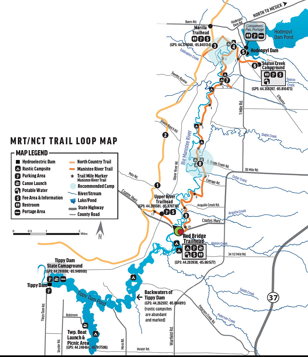 Manistee River Trail Loop Map