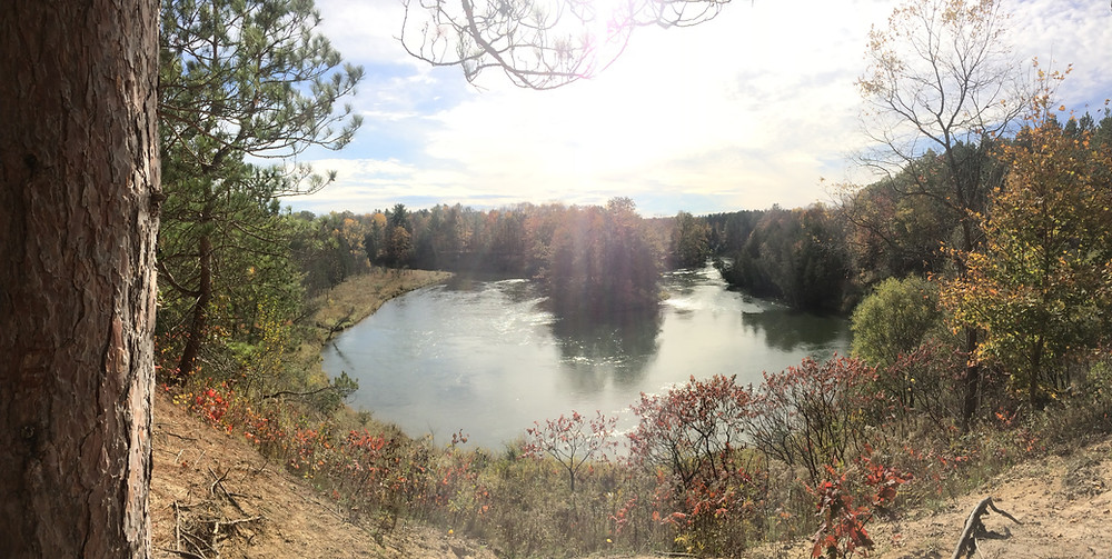 First real view of the Manistee River