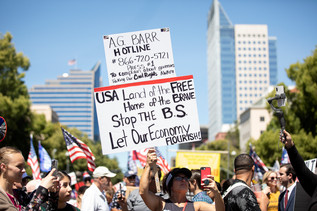 "Thousands of Californians kick off Memorial Day weekend with a rally known as ""Liberty Fest"" in front of the Capitol on May 23rd, 2020. The protesters were extremely diverse, coming from all different races and ages. Liberty Fest had several keynote speakers speaking throughout the event, including Ben Bergquam, Eric Early, KrisAnn Hall, and many more. Local hairstylist also set up their booths and offered haircuts all day."
