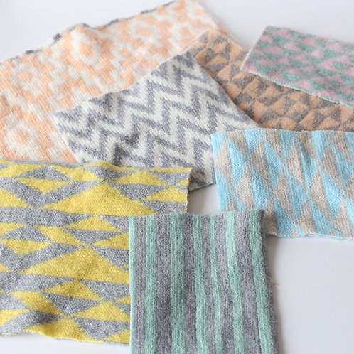 Pastel bundle of fabric off cuts