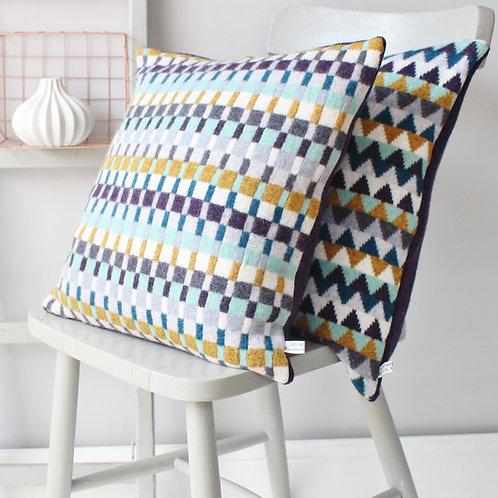 Tatler Knitted Lambswool Cushion