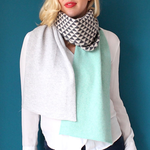 Smoke Knitted Lambswool Scarf