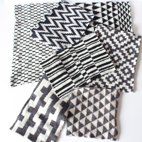 Monochrome bundle of fabric off cuts