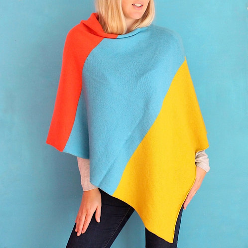 Tutti fruity knitted poncho