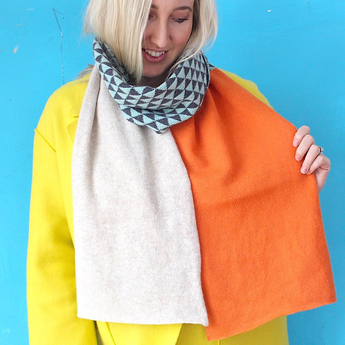 Turmeric Knitted Lambswool Scarf