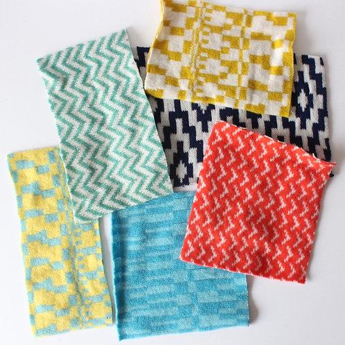Multicolour bundle of fabric off cuts