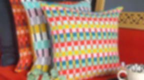 Colour on colour on colour! The lounge i