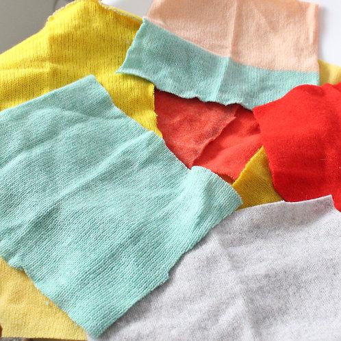 Plain bundle of fabric off cuts