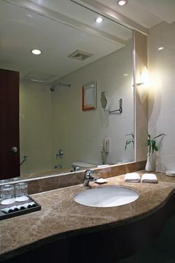 Contemporary style bathroom counter