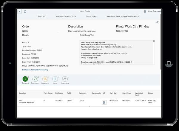 Havensight Productivity Manager App - Order Details