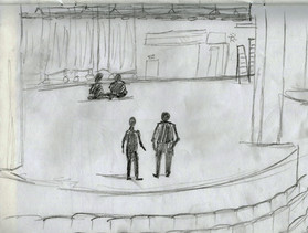 On-site sketch of KCA Whitney Hall
