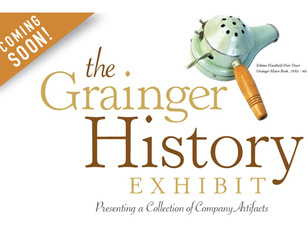 Grainger's history is on full display in the massive headquarters lobby.