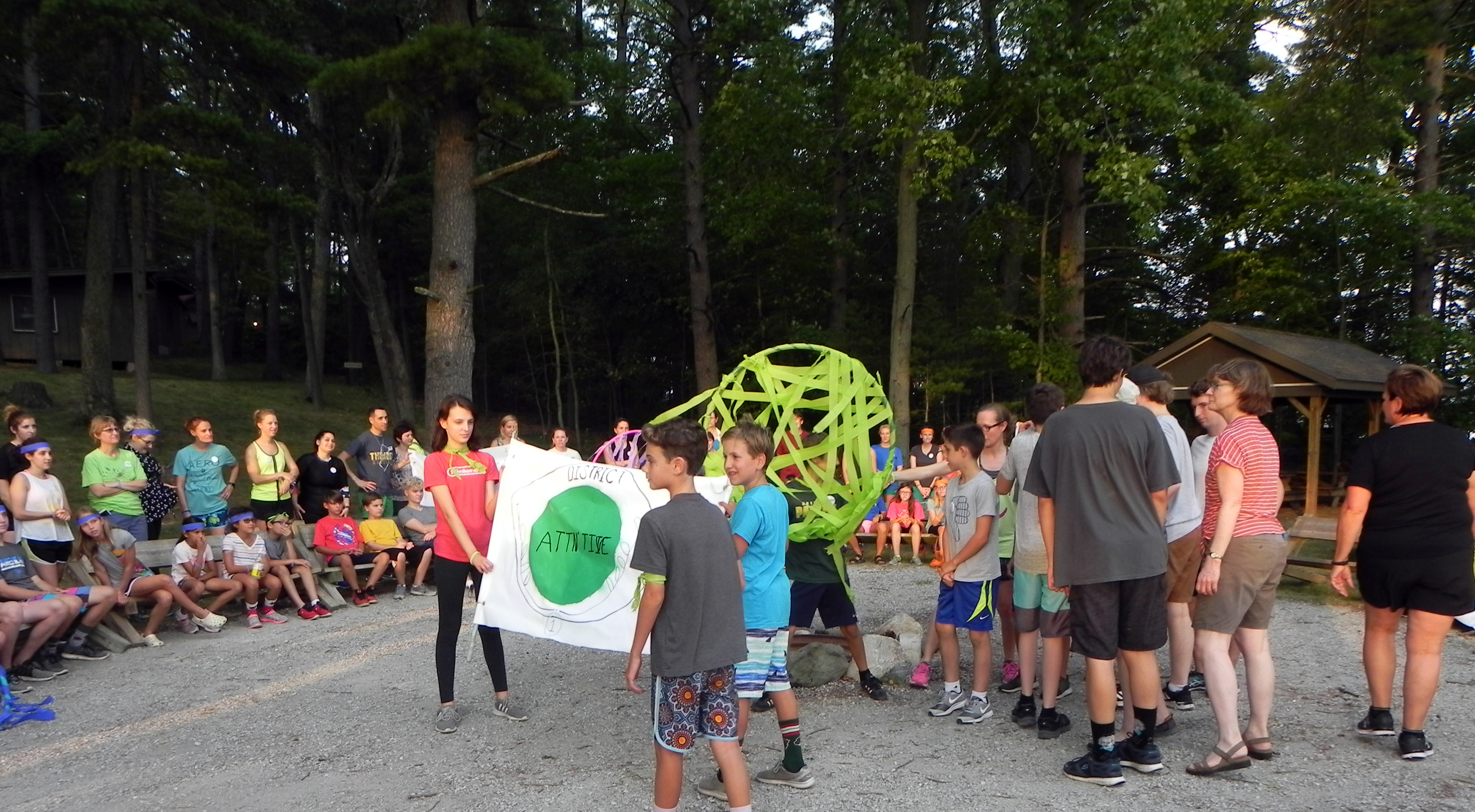 Campers presenting