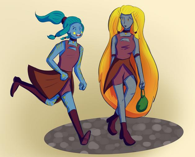 Terra and Friend in Uniform