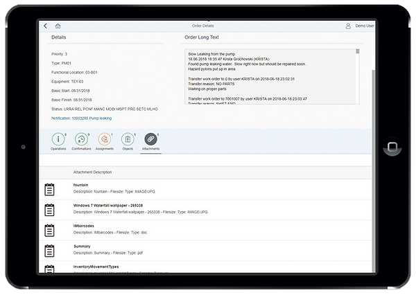 Havensight Productivity Manager App - View Attachments