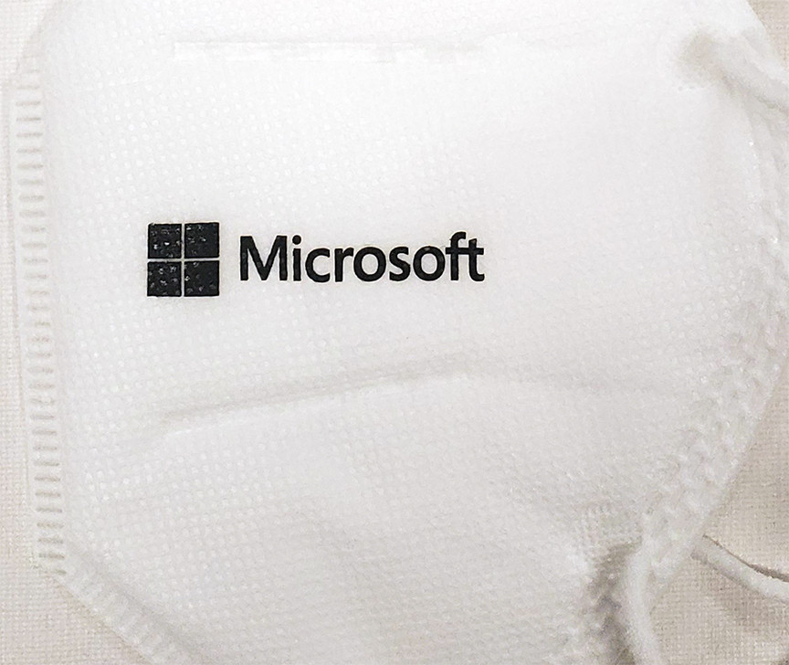Microsoft Logoed Coronavirus Protection