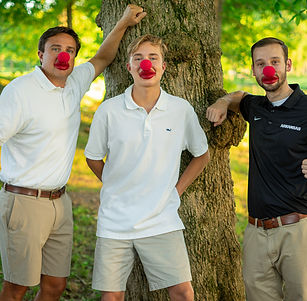 Guys with red noses.JPG