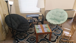 Reading Room Installation - mock set up