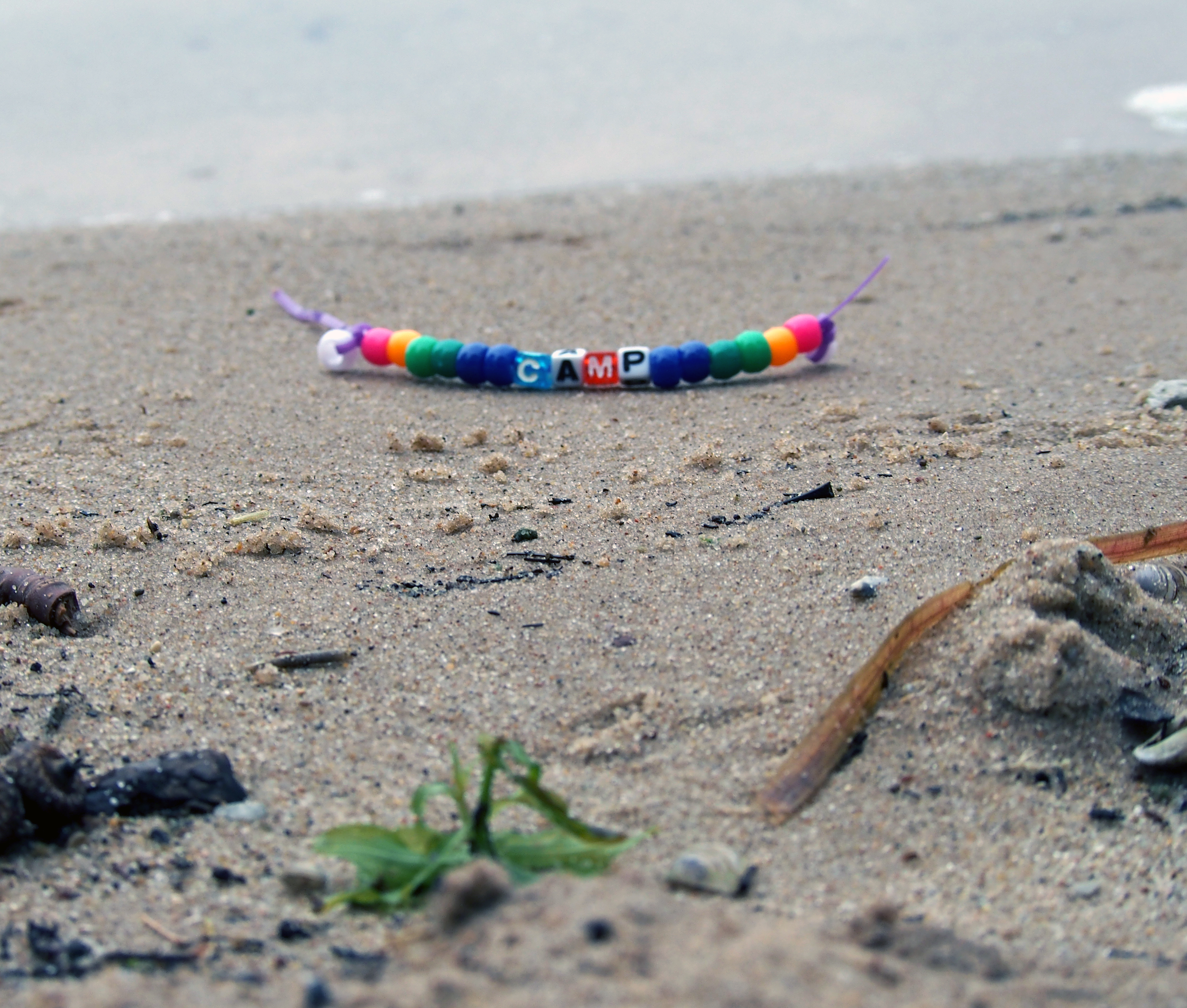 Camp beaded bracelet