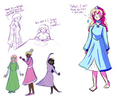Eliza updated dress and Princess dress sketches