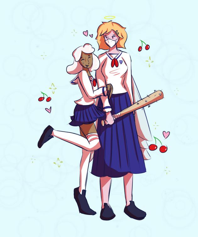 Angle and Crystal School Uniform