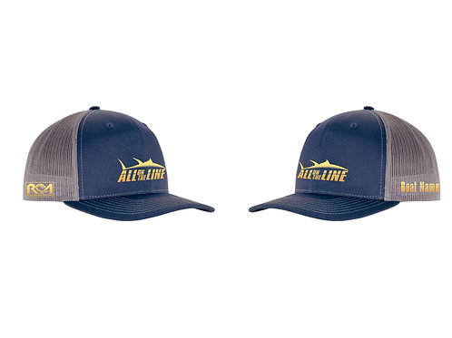 AOTL Blue Fin Tuna Snap Back Trucker Hat